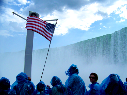 Flag on the Maid of the Mist